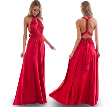 (spot) Temperament Bridesmaid long sister group dress 2020 bride Bridesmaid dress many kinds of long Party dinner dress gowns 1