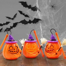 Halloween Ghost Festival Family Street LED Voice Control Lantern Pumpkin Spider Hang Party Decor