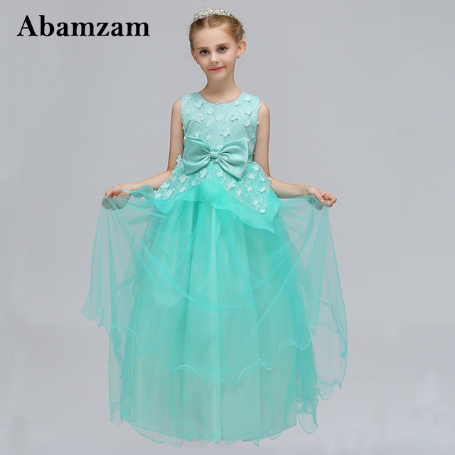 Brand Formal Summer Girls Party Dress For Wedding Pageant Gown Teen ...