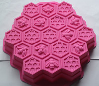 Silicone soap mold Bee honeycomb shape fondant cake chocolate mold resin clay craft mould decoration tools