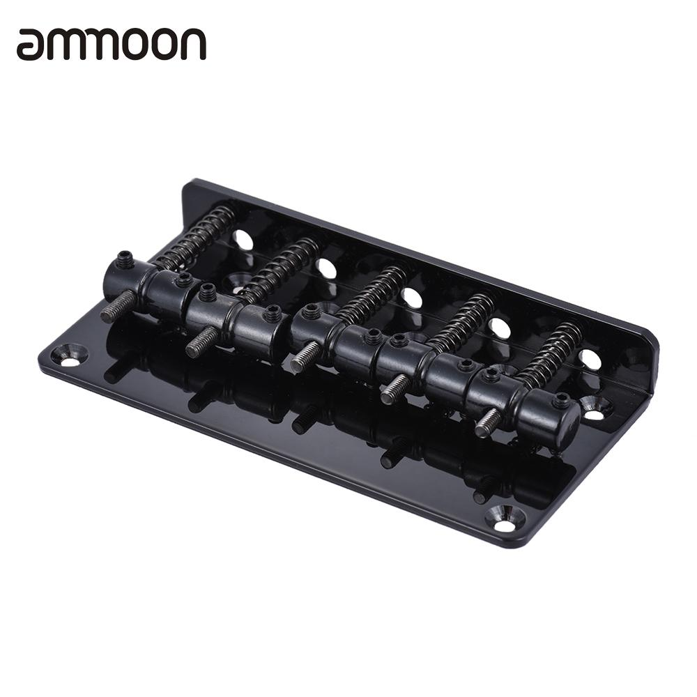 5 saddle guitar bridge set for 5 string electric bass guitar high quality guitar parts. Black Bedroom Furniture Sets. Home Design Ideas