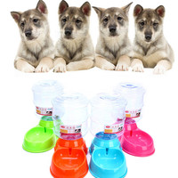 Free Shipping Wholesales 2017 New 3 5L Pet Dog Cat Automatic Water Dispenser Device Bottle Dish