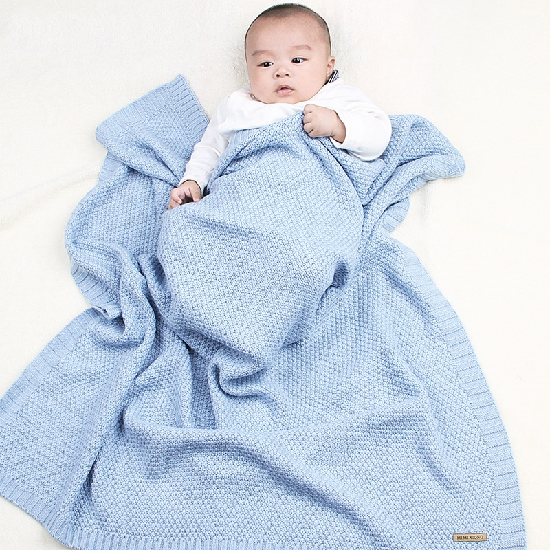 Baby Blanket Knitted Newborn Blankets Super Soft Stroller Wrap Infant Swaddle Kids Inbakeren Stuff For Monthly Toddler Bedding | Happy Baby Mama