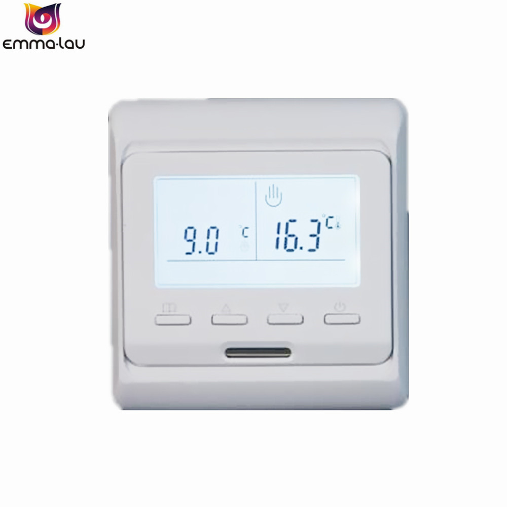 220V 16A Weekly Programming LCD Dual Temperature Control Thermostat Floor Heating Room Air Temperature Switch + Sensor 5~90C floor heating thermostat air condition temperature controller switch 16a 220v b119