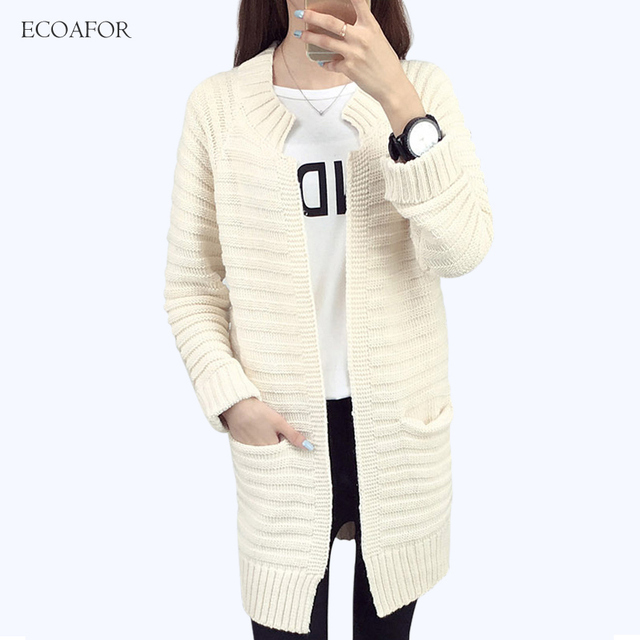 Thicken Cardigan Women Long Sleeve Knitted Outwear Jackets Ladies ...