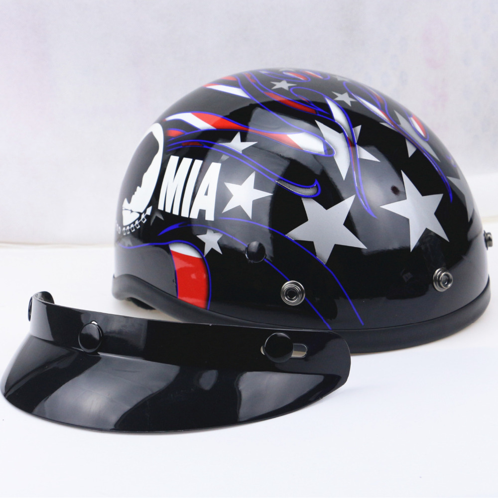 Pow mia harley motorcycle helmet cacos moto half face vintage pow mia harley motorcycle helmet cacos moto half face vintage scooter jet retro helmet dot certification size s m l xl xxl in helmets from automobiles 1betcityfo Gallery