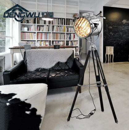 Industrial bar nordic american creative studio retro silver and industrial bar nordic american creative studio retro silver and golden floor lights tripod searchlight additional net aloadofball Images