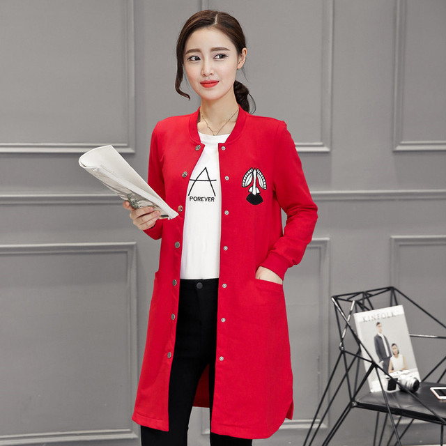YONO New Fashion Women Jacket Casual College Long Baseball Jacket Cartoon Jaqueta Casaco Feminina Coat Cardigans Plus Size 4XL