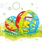 <+>  Baby Hand Grab Погремушка Игрушка Новорожденный Зуб Гель Погремушка 0-1 Лет Детские Развивающие Игру ①