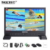 SEETEC 4K156 9HSD 3g SDI студийное видео монитор 15,6 дюймов 4 К 3840x2160 UHD ips ЖК дисплей 4x4 К HDMI Quad Разделение Дисплей VGA DVI