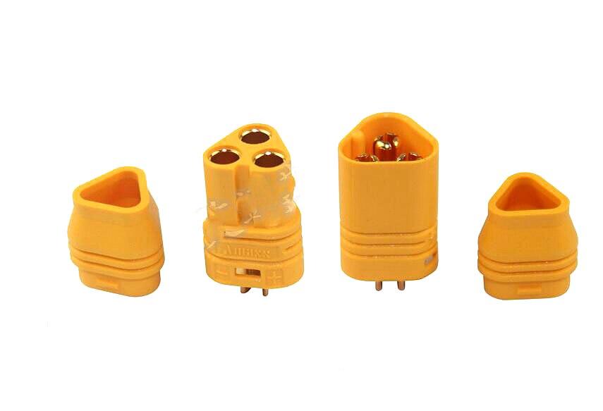 10 pairs AMASS MT60 Motor calling three core XT60 upgraded three-pin plug charging port  ...