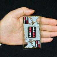1 stks Poker Mahjong Domino Gow Draagbare Plastic Tafelkleed Chips Sturen Dobbelstenen-in Speelkaarten van sport & Entertainment op