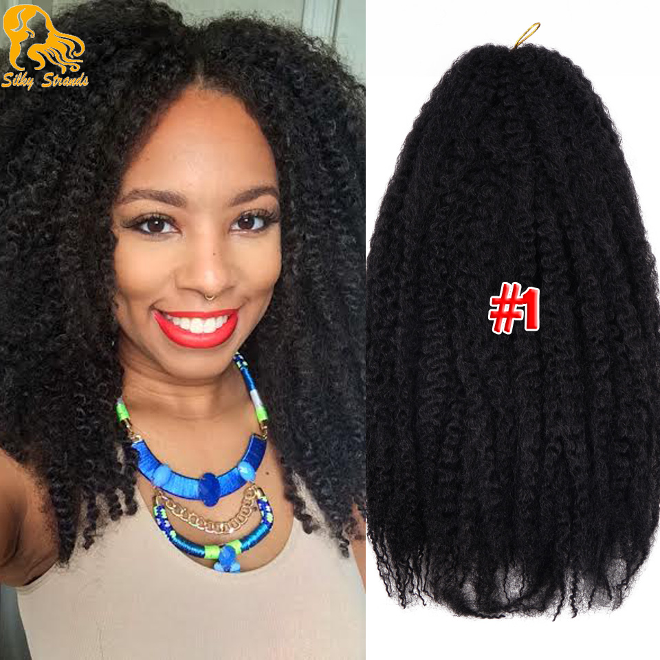 18Inch Synthetic Marley Braids Hair Cheap Fluffy Marley ...