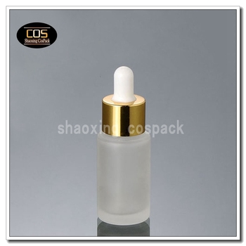 DB26-20ml glass dropper bottles manufacturers, 0.67oz glass bottles with gold shell droppers, glass dropper bottles wholesale