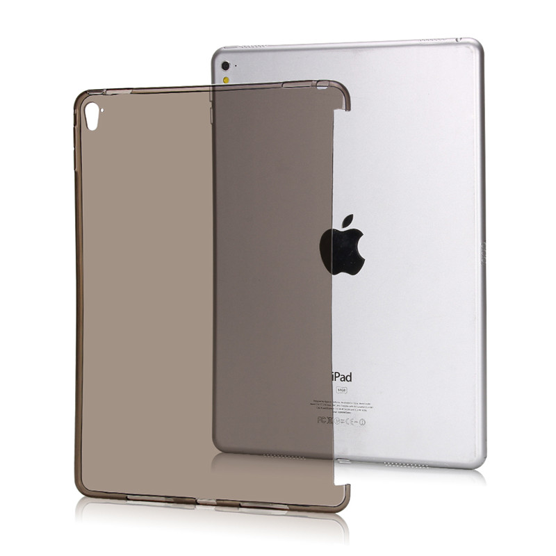 Case For iPad Air,Redlai Ultra-thin Lightweight Soft TPU Transparant Can See Logo Back Case Cover For Apple iPad 5 Tablet Case