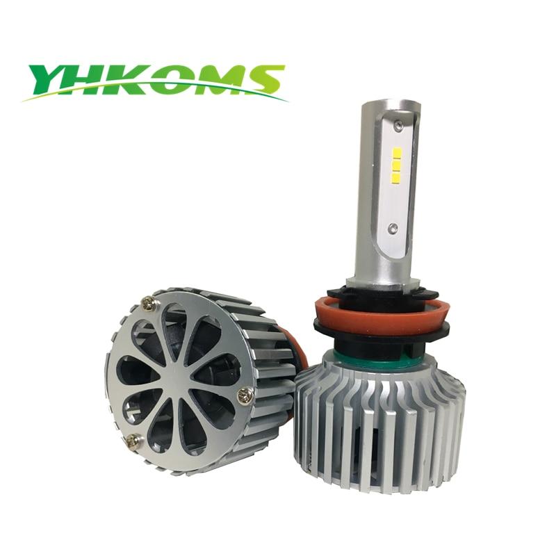 YHKOMS H8 H9 H11 LED llambë LED H4 Llambë automatike të ulët të - Dritat e makinave - Foto 2
