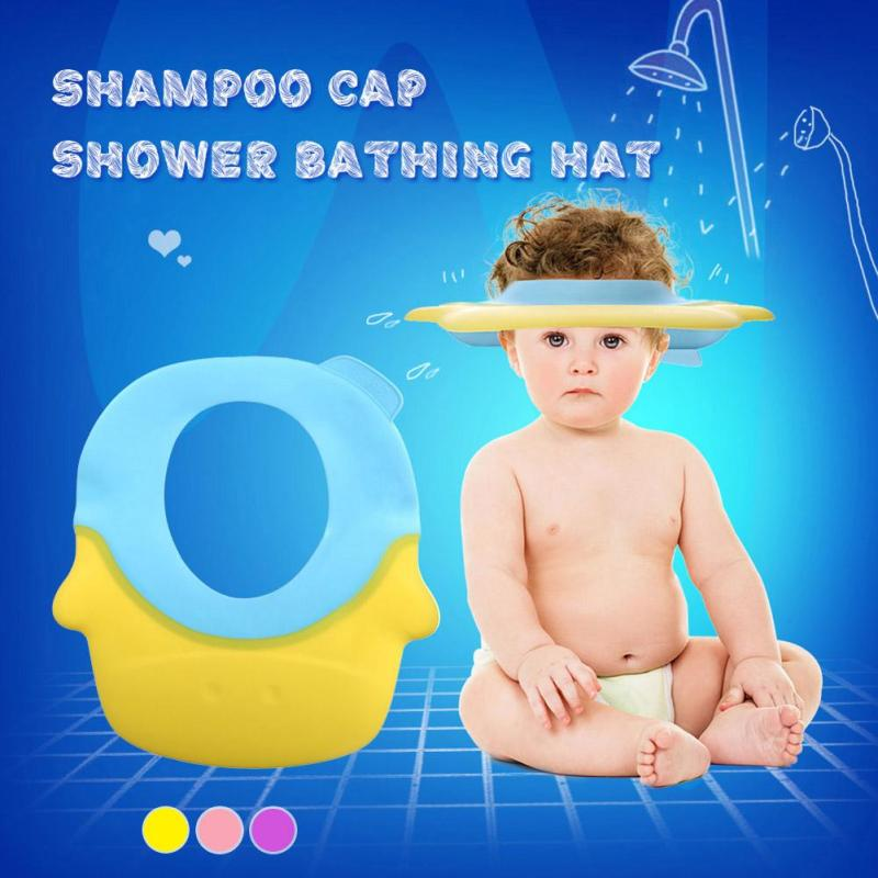 New Head Round Shape Baby Bath Caps Shampoo Children Bathing For Kids Baby Shower Child Washing Hair Shield Hat A5