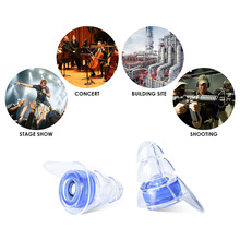 Hearing Protection Ear Plugs Clear Soft Silicone Earplugs for Music Motorbike Sleeping LCC77