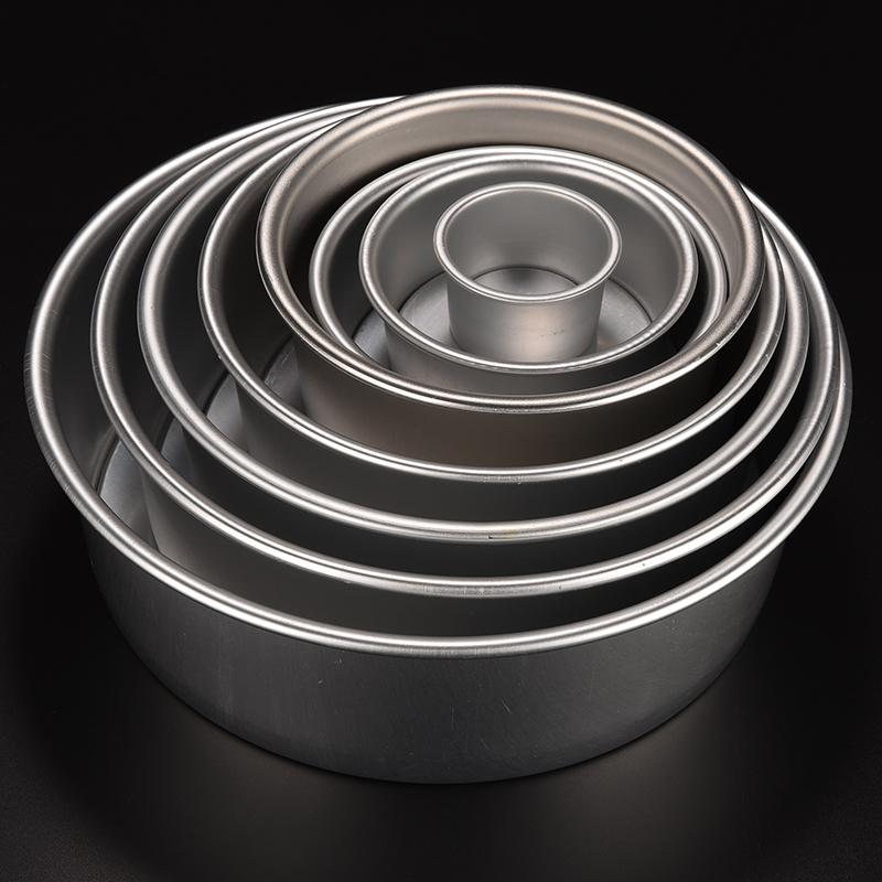 8 Sizes Nonstick Bottom Pan Bakeware Round Cake Baking Mould 2 4 5 6 7 8 9 10 Inch New Aluminum Alloy Cake Mold One For Sale