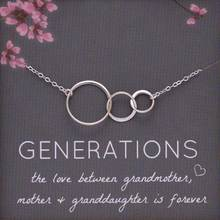 Generations Necklace For Grandma Silver Color