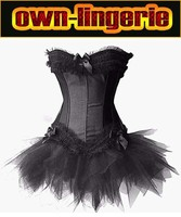 Black Natural Color Hot Sales Poplin Corsets With Dress , New 2014 Bustiers & Corsets Women Boutique Clothing S 2XL w7002