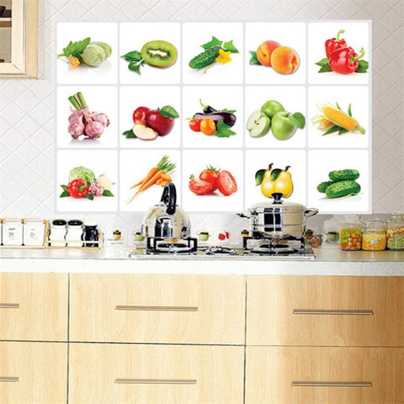 Kitchen All Kinds Of Fruits Oilproof Removable Fruit And