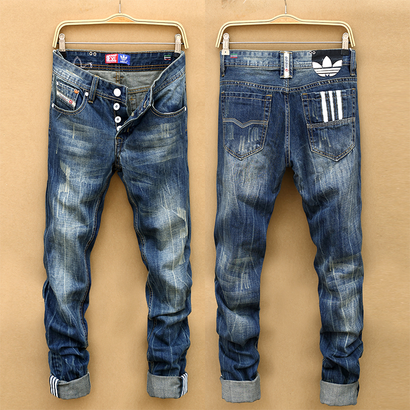 Autumn And Winter Beckham Jeans Male Straight Slim Casual Male Vintage Trousers Free Shipping