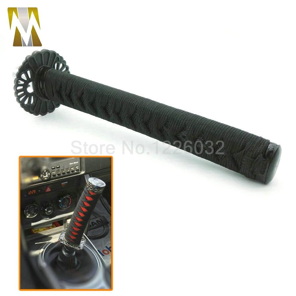 265mm JDM Samurai Sword Shift Knob Shifter Katana Metal Weighted Sport With Adapter ALL BLACK