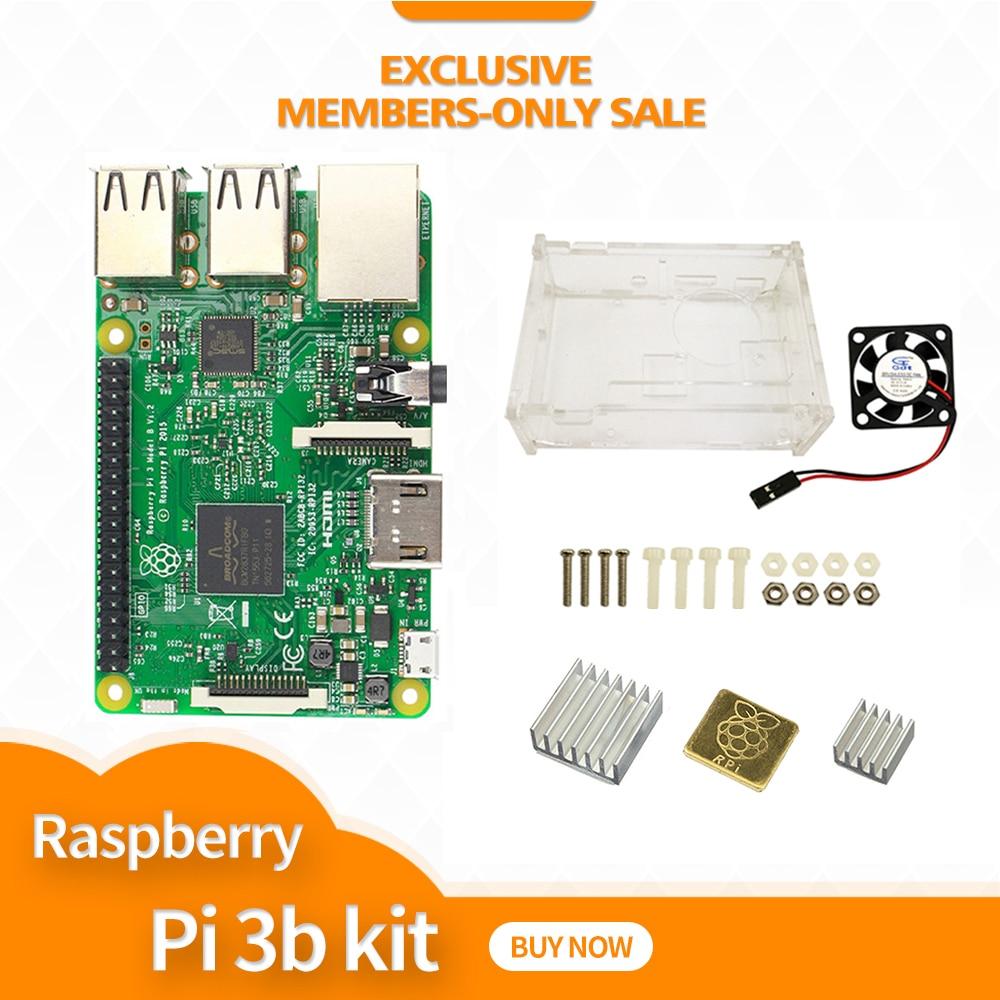 Raspberry Pi 3 modèle B kit de démarrage-pi 3 carte/pi 3 boîtier/ventilateur/dissipateur de chaleur