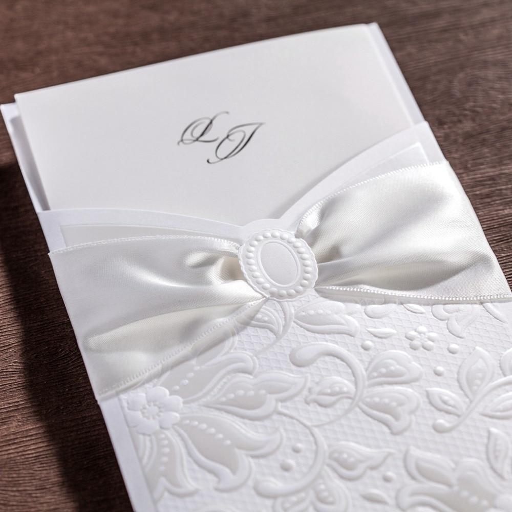 cw5193 white elegant wedding invitation card/ greeting card with ...