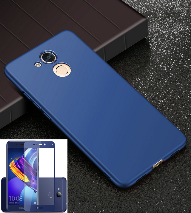6C 6C Pro Cover For Huawei Honor 6C Pro Case 360 Protection Hard Plastic Matte With Full Tempered Glass for Honor V9 Play