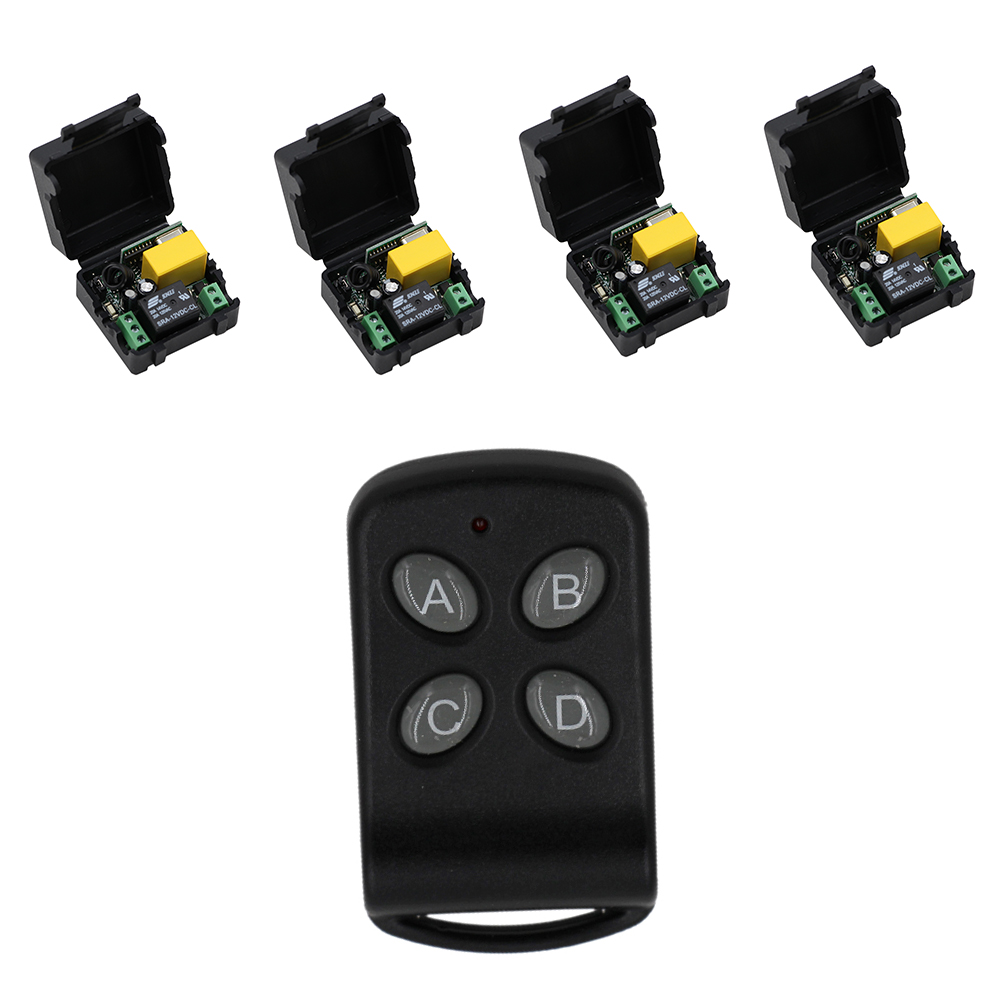 High Quality 220V 10A 1 Channel Wireless Relay Remote Control Switch RF Mini Receiver Input Output 220V 2017 New wireless remote control switch 10a mini relay receiver