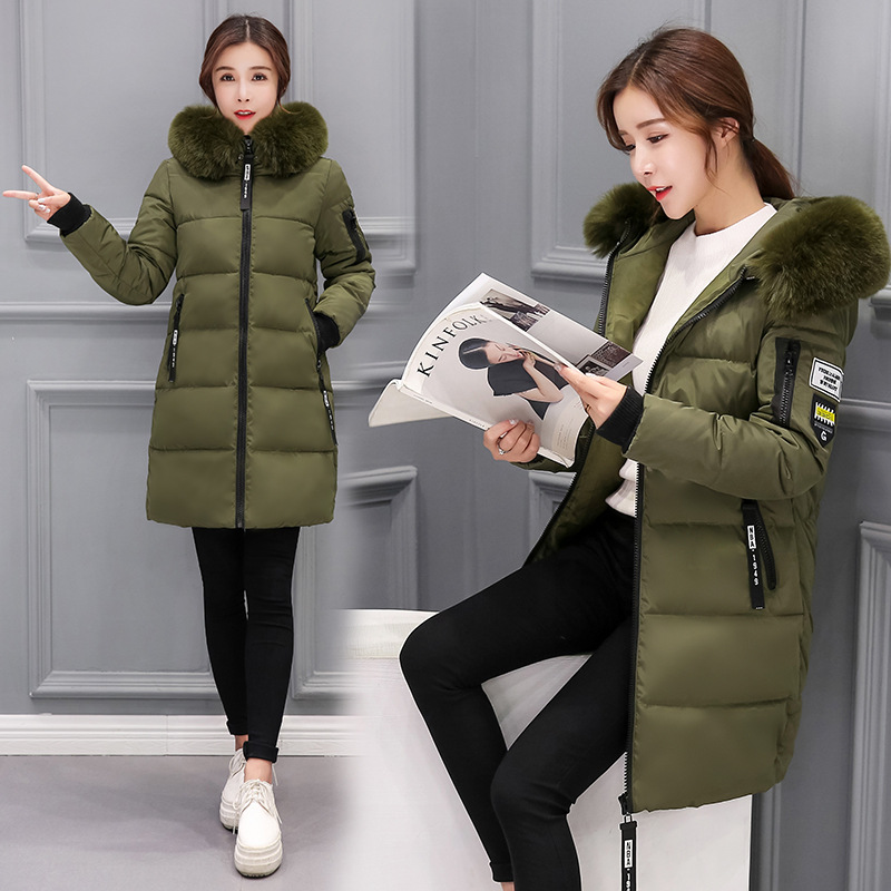 Winter coat women 2019 new sell warm jacket women   parka   fur collar thick hooded plus size long setion jacket women coat