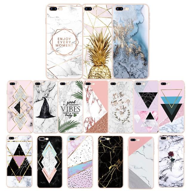 Transparante Originele Luxe Marmer Case Voor iPhone 8 7 Plus 6 6S 5 5S 5C SE 4 Zachte TPU Cover Voor iPhone 11 Pro X XS MAX XR Gevallen