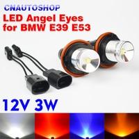 1 Set 2 Pieces 12V 3W LED Marker Angel Eyes Bridgelux Chip 7000K XENON White For