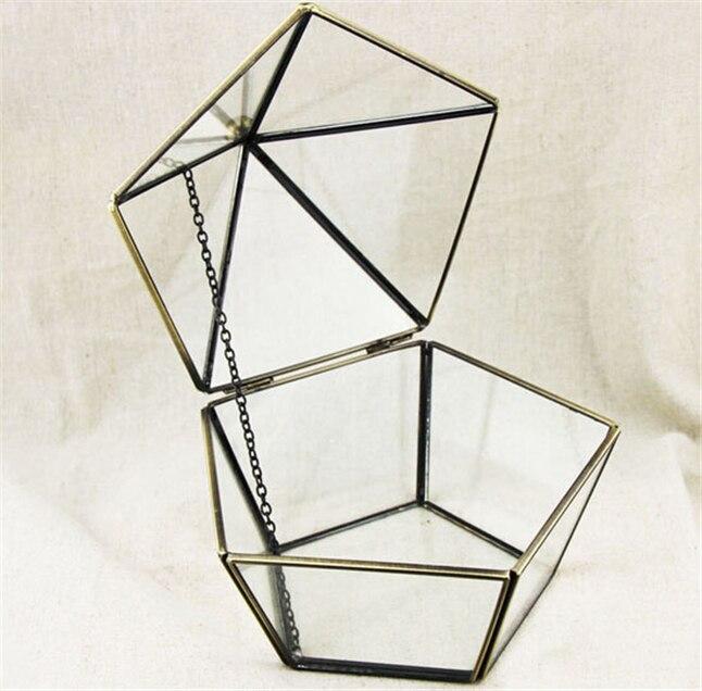 Ορείχαλκο και γυάλινο κουτί, καπάκι - Διακόσμηση σπιτιού - Φωτογραφία 4
