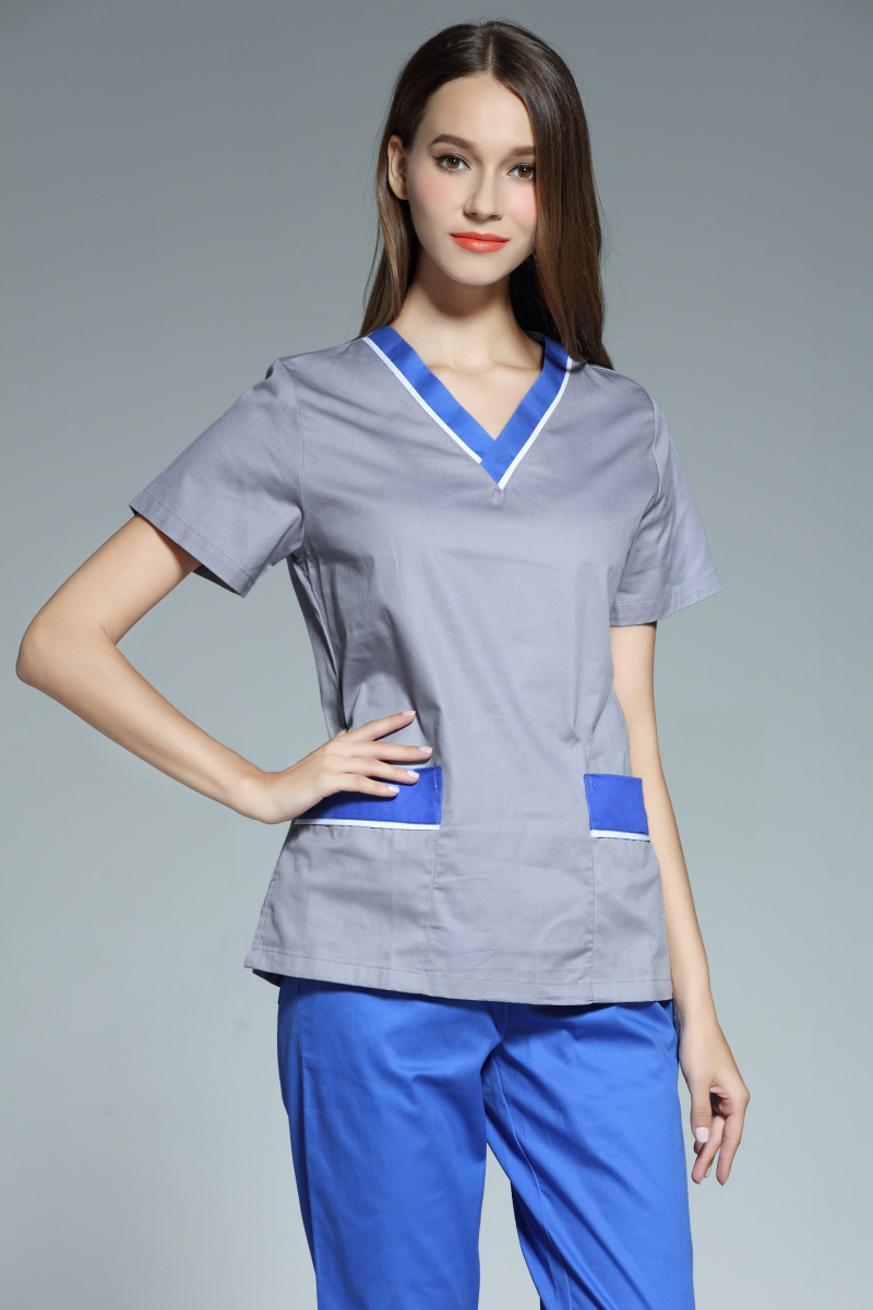 New Arrival women hospital medical uniform scrub dental clinic beauty salon working uniform short sleeved
