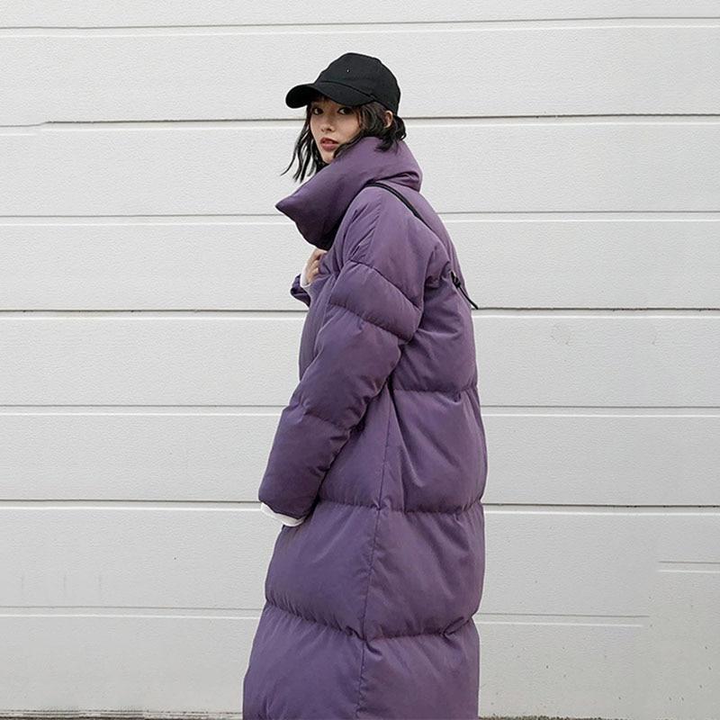 Femmes 2018 Longues Solide Long Hiver Femlae xitao Duvet Manches Roulé Mode purple Blanc Dll1215 Corée Plein Couleur Dll1215 Canard Manteau De Beige Col qgS5OOd