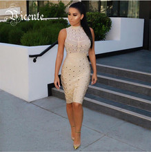 VC 2020 Hot HOT moda Gorgeous paski siatki bez rękawów w stylu celebrytek hurtownie HL bandaża sukni