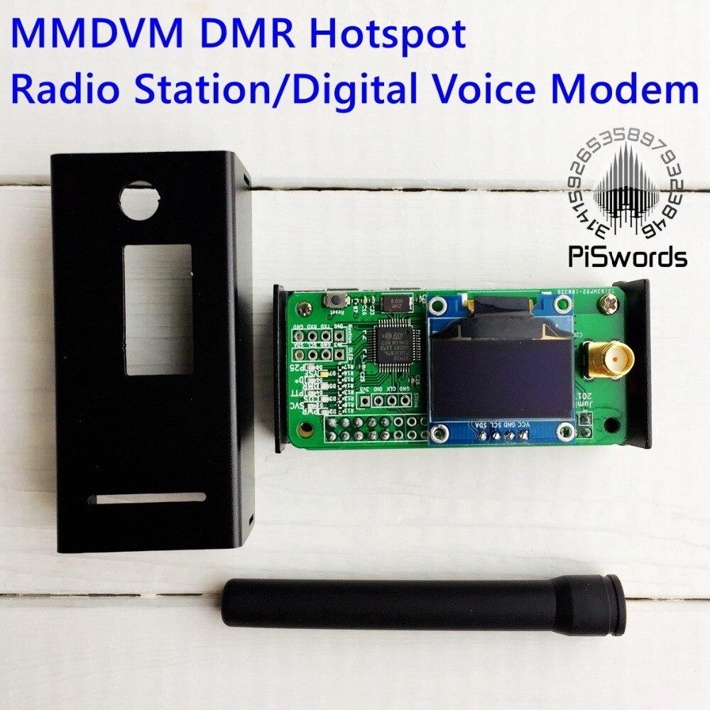 Case Support P25 DMR YSF F// Raspberry pi Antenna UHF//VHF MMDVM hotspot OLED