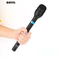 Nieuwste BOYA BY-HM100 Handheld Dynamische Microfoon Omni-directionele Aluminiumlegering Mic Voor ENG & Interview & Nieuwsgaring