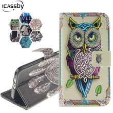 Owl Tiger Coque For LG Stylus 3 Case PU Leather Flip Magnetic Smartphone Wallet Mobile Phone Bags Case for LG Stylo3 /III Cover