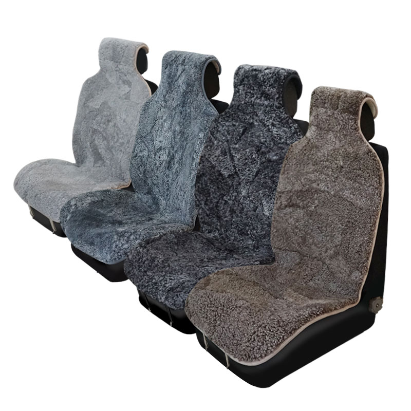 Image 4 - ROWNFUR Brand Universal Car Seat Covers Sheepskin Fur Seat Cushion 2 pc Car Front Seat Or 1 pc Back Seat Automobiles Accessories-in Automobiles Seat Covers from Automobiles & Motorcycles