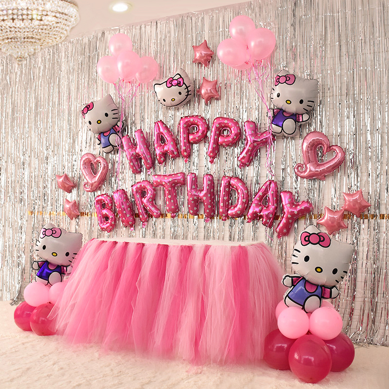 Hello Kitty Balloons Happy Birthday Balloons Packages Girls Party