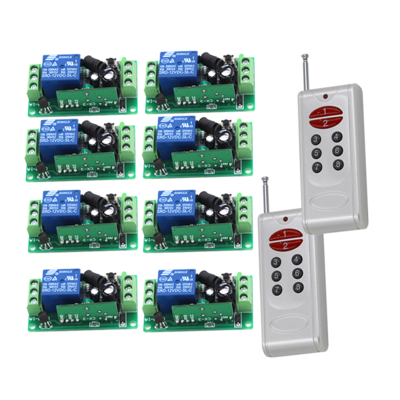 все цены на 12V 8CH RF Wireless Remote Control Switch system /2transmitter and 8receiver/RF 1CH controller and remote control 4002 онлайн
