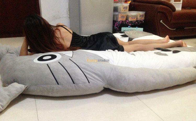 Fancytrader 190cm X 130cm Super Cute Huge Giant Totoro Bed Tatami Carpet Sofa Free Shipping FT90191 (11)