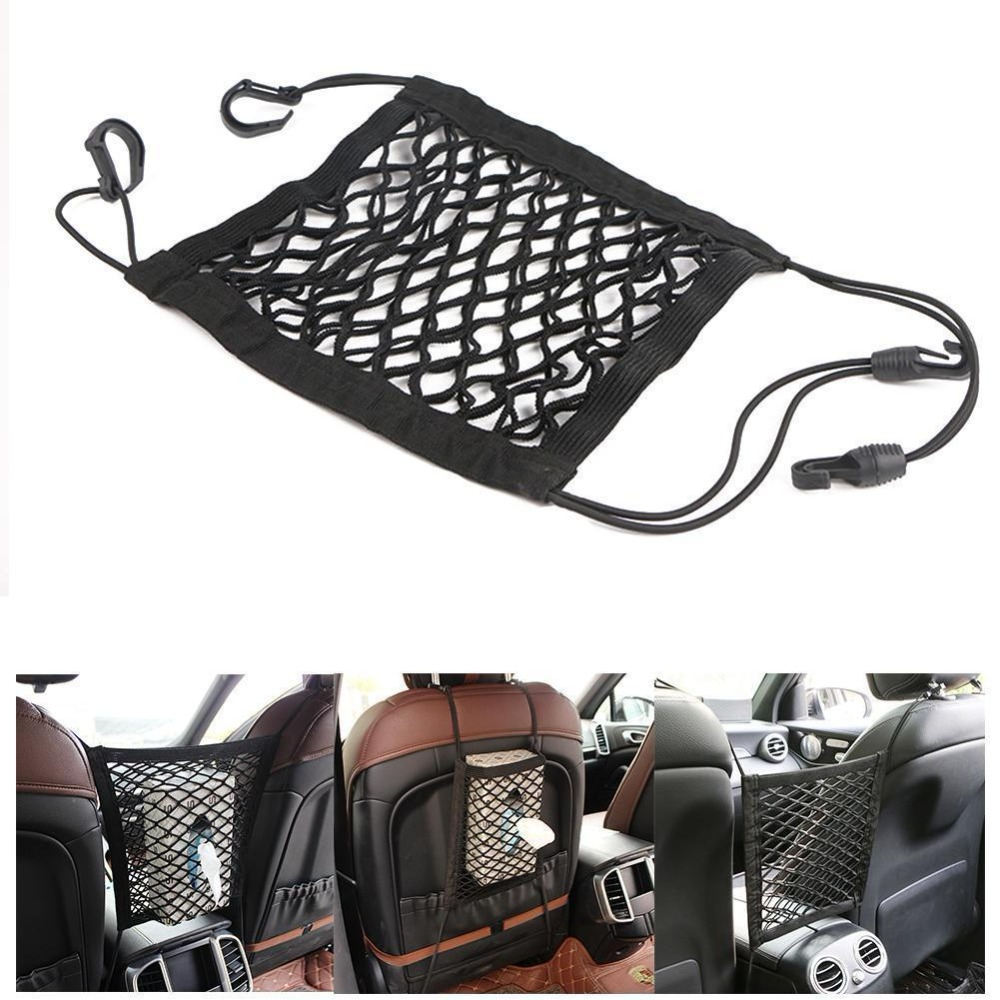 Universal Elastic Car Vehicles Mesh Cargo Net Trunk Bag Between Organizer Seat Back Storage Luggage Holder Pocket Car Styling image