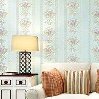 Beibehang papel de parede 3D hình nền phòng khách ngủ giấy tường nền sọc hoa nhỏ 3d hình nền papier peint