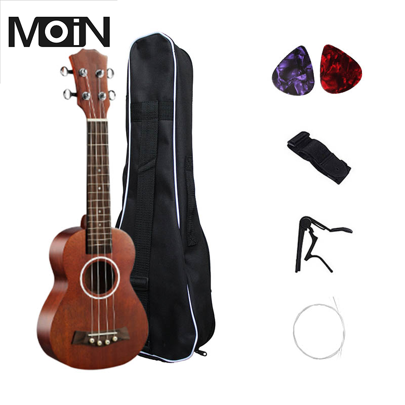 Soprano Ukulele 21 inch Ukelele 4 Strings Basswood Fingerboard Acoustic Guitar Music Instrument Bag Tuner String Strap Pick Set ...