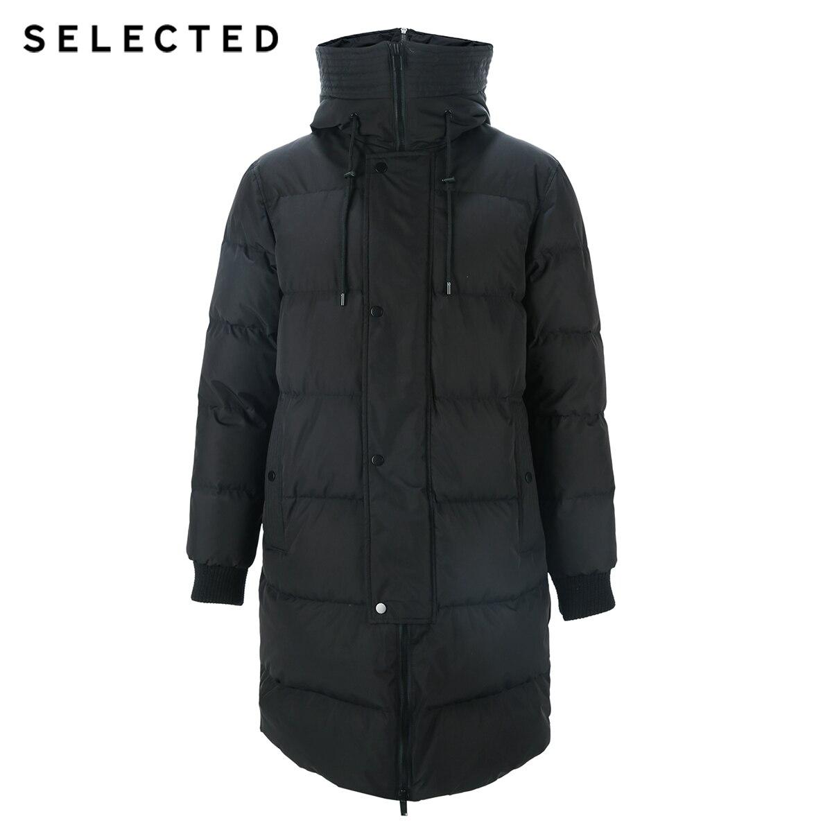 SELECTED nouveau hiver doudoune hommes fermeture éclair et chapeau décontracté moyen et Long manteau costume S   418412503 - 5